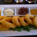 Calamari with three dips