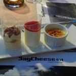 Mixed dessert....tiramisu, creme brulee and panna cotta ☺