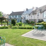 Village town houses and Monet style garden