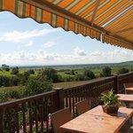 Terrasse avec vue panoramique sur la Plaine d'Alsace