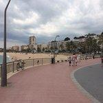 view of promenade & beach at Lloret De Mar