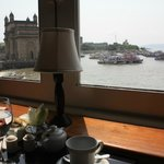 A view from the Sea Lounge to the Gateway of India