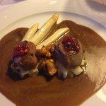 Venison filet and fresh chanterelles