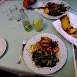 Home Cooking ,Grilled Calamari & Spinnich & Potato