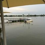 Their private pier and cute boat