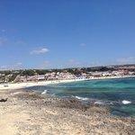 Punta Prima beach-hotel on right