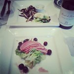 Delicious starters and superb wine!