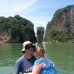 Our view of James Bond Island (they don't go ashore and you don't need to - trust me)