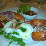Wonderful lobster salad starter