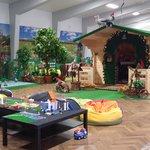 playgroung hall with Santas house