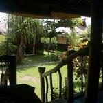 """sur la """"terrasse"""" du bungalow"""