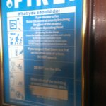 fire notice with no legible escape route or assembly point
