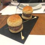 Mini hambúrguers
