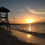 Por-do-sol na praia