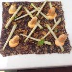Black Rice Pudding carpaccio