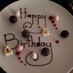 Birthday treat from the chef