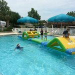 Pool obstacle course...love it!