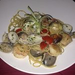 The best pasta with clams, shrimp and scallops EVER. I asked the chef to prepare it al dente and