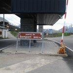 Posto de fronteira em Samport.