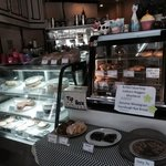 The counter with goodies