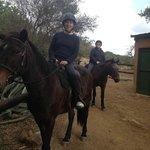 Horseriding through the bush