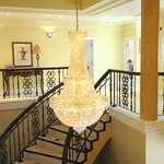 Our Magnificent Staircase Leads to Top Floor Bedrooms and Business Centre