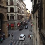 View up street from hotel room