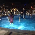 Pool party on evening