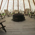 Teepee - a great evening gathering spot!