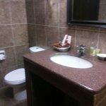 Clean bathroom with a bath tub