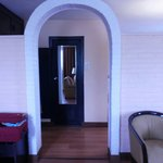 Archway separating the bedroom