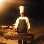 Chef on beach
