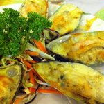 Baked New Zealand Mussel with Cheese