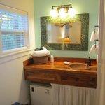 Vanity Area in Coconut Cabana room