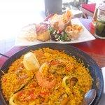 Seafood Paella and Mixed 10 Tapas