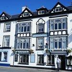 Front of Inn facing Dyfi Estuary -