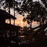 sunrise @ hide on high bar & art jewellery. on the mountain than sadet koh phangan.