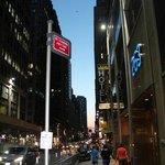 Approaching hotel walking west on 38th
