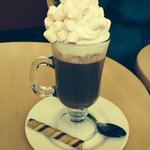 Hot chocolate with cream and marshmallows!!!! Gorgeous!!!!!
