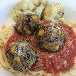 quinoa meatballs and pasta