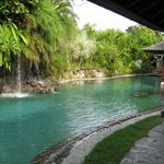 The Main pool, a short stroll from your villa
