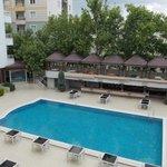 Swimming pool in the hotel yard