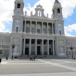 The baroque exterior, re-designed to conform with the facade of the neighbouring Palacio Real