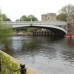 Cross the bridge to center of York