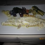 Sea Bass - main course special, cooked in salt crust, wonderfully moist