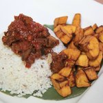 Terra Legendary Ofada rice with sauce and dodo(fried plantain)