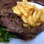 Lamb chops with frites.
