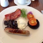 Full welsh with poached egg