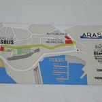Mapa(200m del BUS en la calle principal)