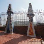 cheminées recouvertes de trencadis(mosaïques)